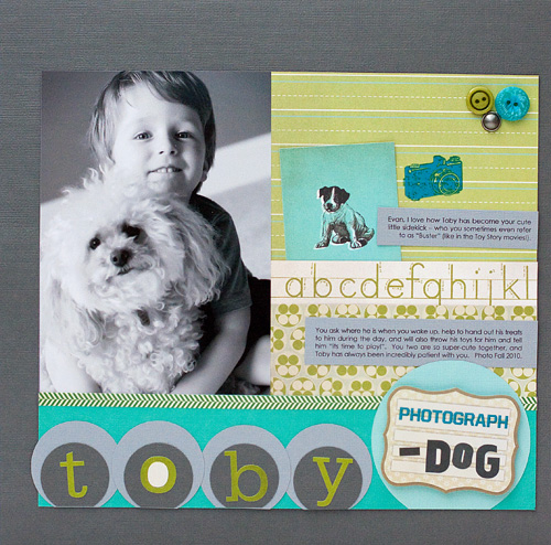 Toby dog layout - susan weinroth