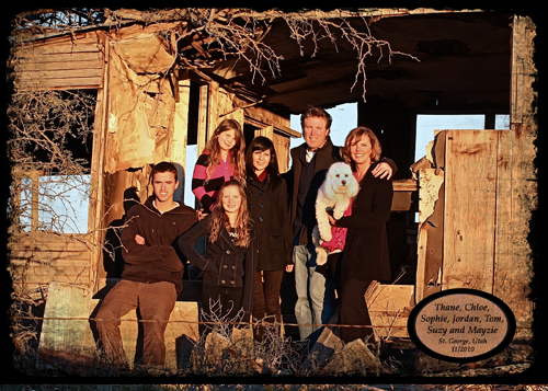 Christmas card photo two 2010
