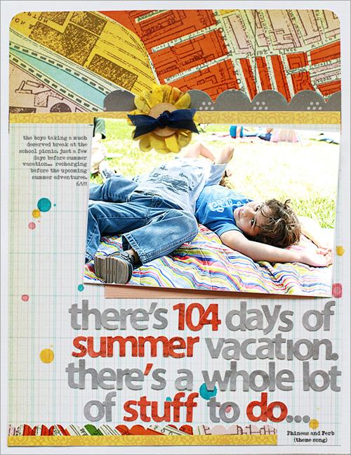 Summer vacation- lyric challenge