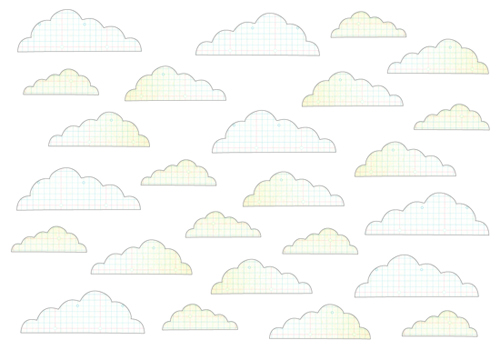 Clouds with outline