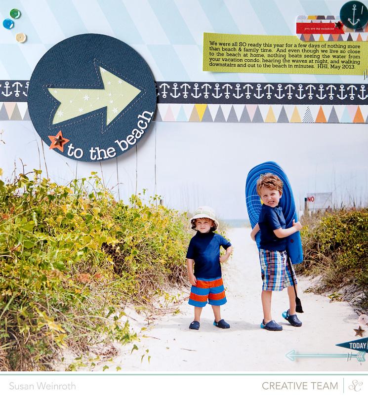 To the beach - blog challenge - susan weinroth